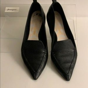 NICHOLAS KIRKWOOD BLACK BEYA TEXTURED FLAT SHOES